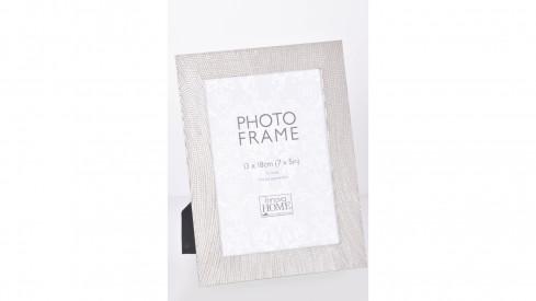Stříbrný kovový fotorámeček 13x18 Ophelia