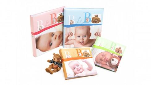 Dětské zastrkávací fotoalbum 10x15/200 foto BABY VITAL oranžové