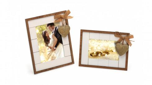 Svatební dřevěný fotorámeček 13x18 WE ARE TOGETHER