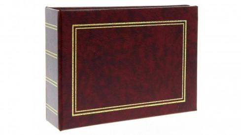 Jendnobarevné fotoalbum 10x15/100 foto vínové