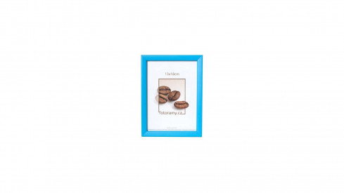 Dřevěný fotorámeček DR0C2 13x18 modrý