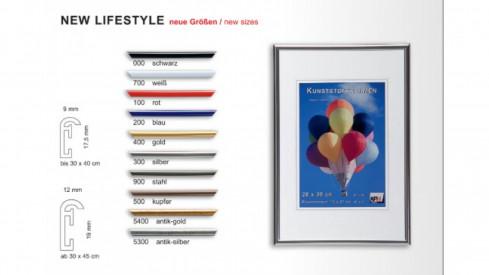 Plastový fotorámeček New Lifestyle A3 29,7x42cm stříbrný