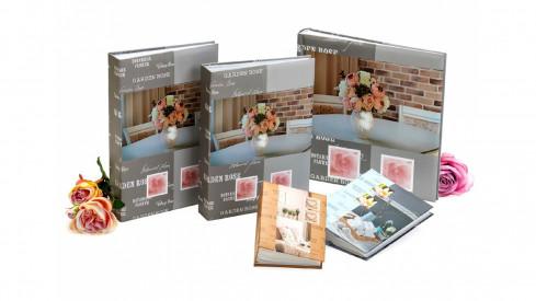Fotoalbum na růžky 30x30/100 stran FEEL HOME šedé