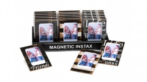 Magnetický fotorámeček INSTAX 5,4x8,6 cm pruhy