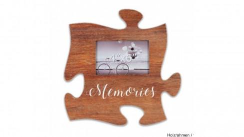 Fotorámeček Puzzle 15x10 hnědý