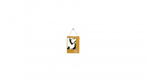 Dřevěný fotorámeček 10x15 YOU zlatostříbrný