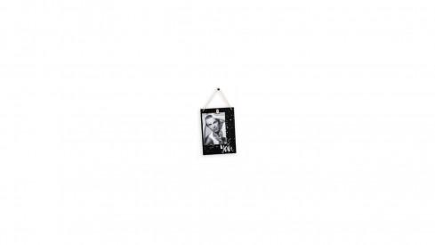 Dřevěný fotorámeček 10x15 YOU černobílý