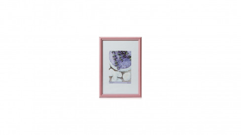 Dřevěný rámeček KARPEX formát A4 21x29,7 cm profil 195R růžová