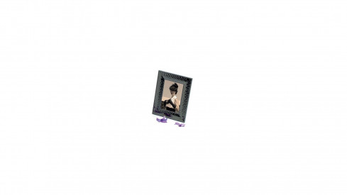 Černý kovový fotorámeček 15x20 FUTURE