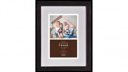Luxusní dřevěný fotorámeček Floating Frame 10x15 Dark Brown
