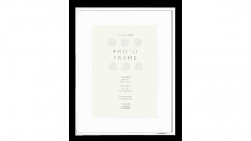 Kovový fotorámeček KNIGHTSBRIDGE PLATED stříbrný 15x20
