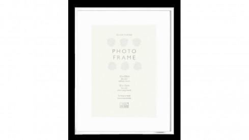 Kovový fotorámeček KNIGHTSBRIDGE PLATED stříbrný 20x25