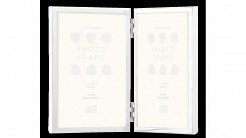 Stříbrný kovový fotorámeček KNIGHTSBRIDGE PLATED na 2 fotky 10x15