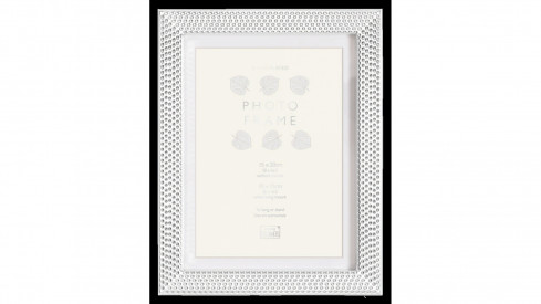 Stříbrný kovový fotorámeček 15x20 REGENCY