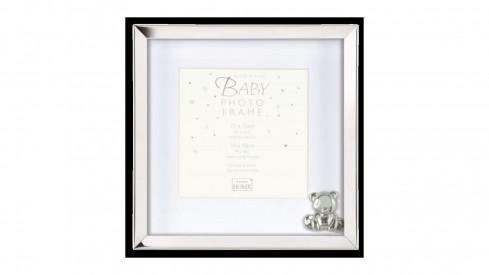 Dětský kovový fotorámeček BABY SILVER 15x15