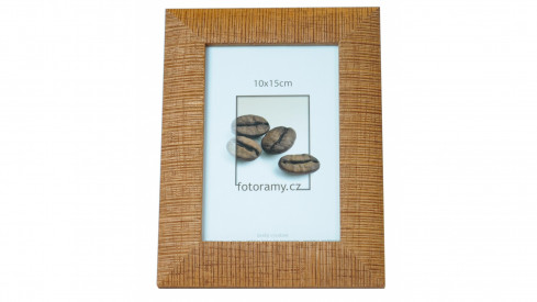 Dřevěný fotorámeček DR005 15x20 sv.hnědý