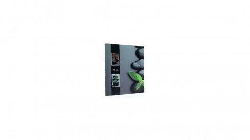 Samolepící fotoalbum 23x28/40s STONE černý pruh