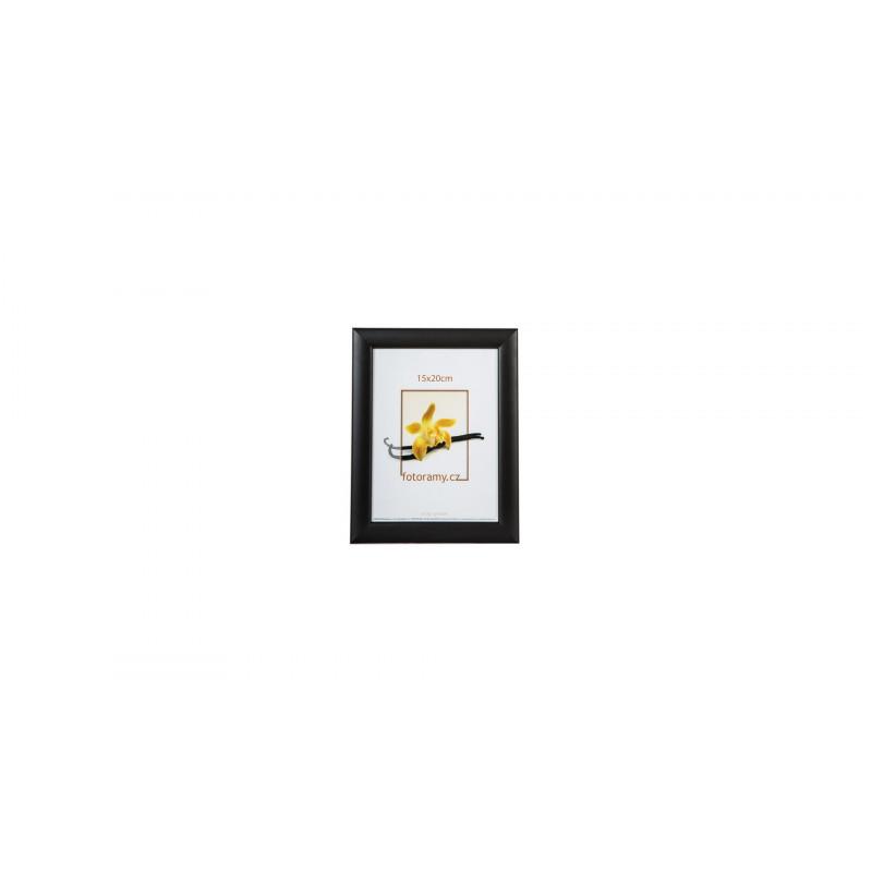 Luxusní dřevěný fotorámeček DR454 15x20 černý matlesk