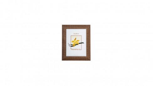 Dřevěný fotorámeček DR005 15x20 tm.hnědý