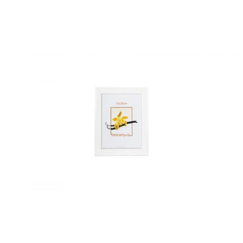 Luxusní dřevěný fotorámeček DR454 20x30 bílý lesk