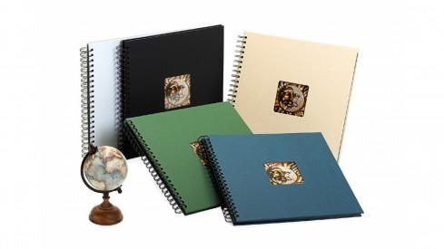 Spirálové fotoalbum na růžky 30x30/40s. CHARME bílé