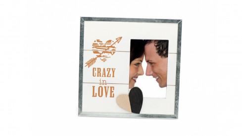 Svatební dřevěný fotorámeček s aplikací STILL IN LOVE I 15x10