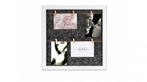 Fotorámeček na 6 fotek 10x15 s kolíčky Gitter schwarz