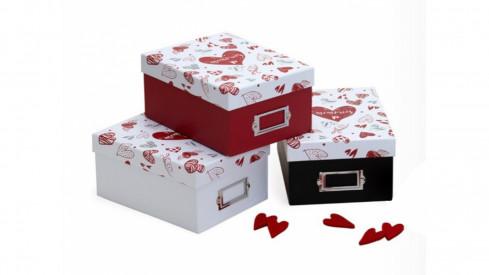 Krabice na fotografie 10x15 700 foto SWEET MEMORIES červená