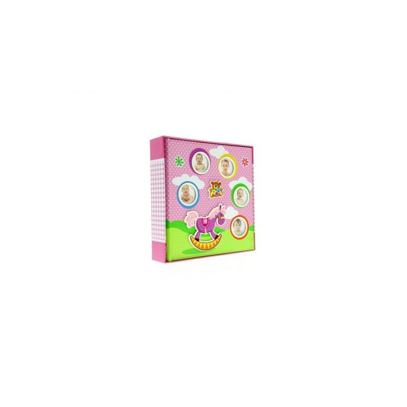 Dětské fotoalbum 10x15/200 foto s popisem růžové