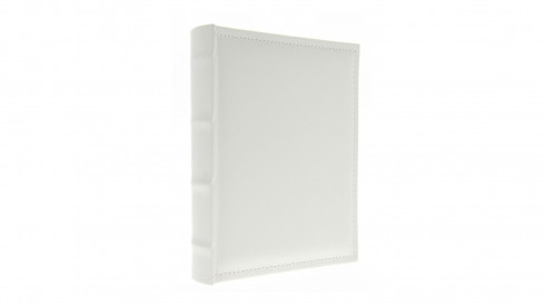 Samolepící kožené fotoalbum 24x29/40s. WHITE