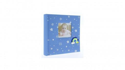 Dětské fotoalbum 10x15/200 foto popis RAINBOW Modré