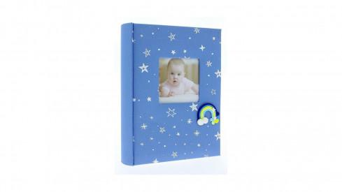 Dětské fotoalbum 10x15/200 foto popis RAINBOW Modré vysoké