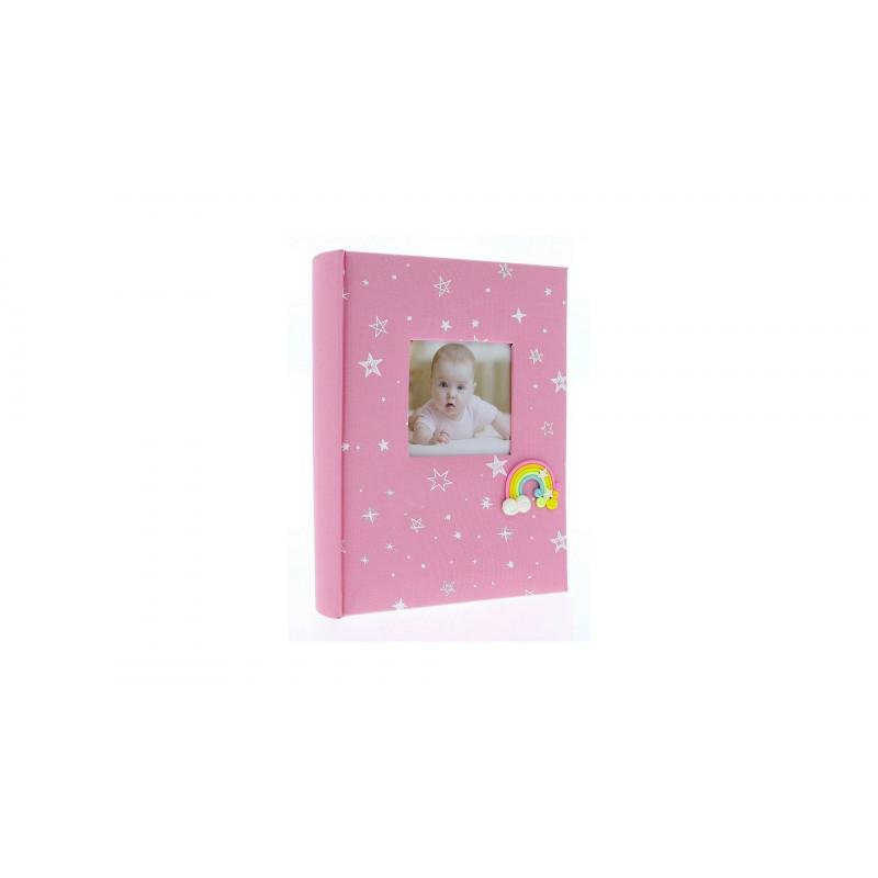 Dětské fotoalbum 10x15/200 foto popis RAINBOW růžové vysoké