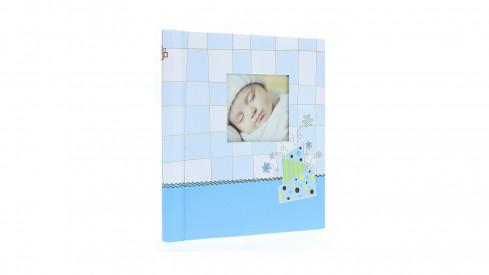 Dětské samolepící fotoalbum 22x28/60s. BABY CHECKER modré