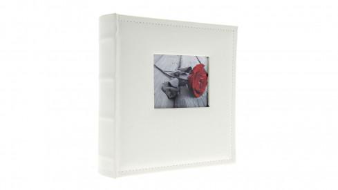 Koženkové fotoalbum 10x15/500 foto WHITE window