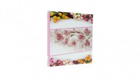 Zastrkávací fotoalbum 10x15/600 FLOWERLOVE růžové