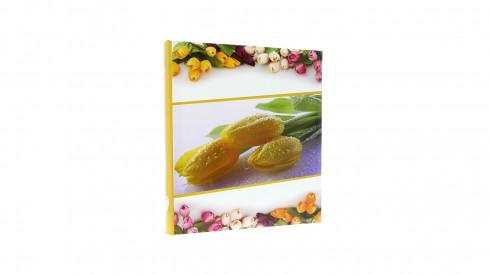 Zastrkávací fotoalbum 10x15/600 FLOWERLOVE žluté