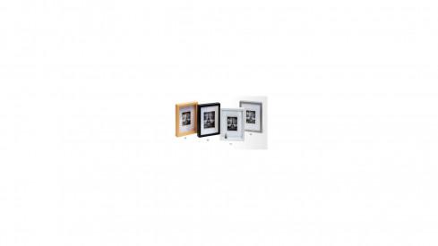 Hluboký dřevěný fotorámeček XXL 30x30 stříbrný