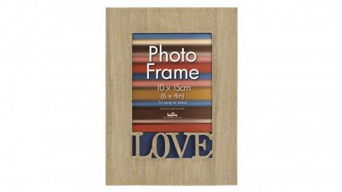 Dřevěný fotorámeček 10x15 s...