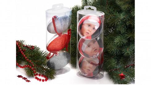 Set tří vánočních ozdom...