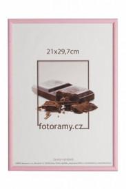 Dřevěný fotorámeček 9x13 DR0C1K růžový