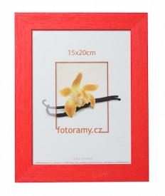 Dřevěný fotorámeček DRC11K 10x15 červený