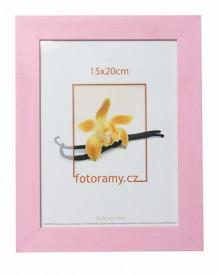 Dřevěný fotorámeček DRC11K 15x20 růžový