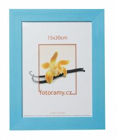 Dřevěný fotorámeček DRC11K A4 21x30 světle modrý