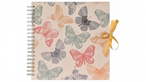 Scrapbook Fotoalbum na spirále pro tvořivou úpravu Butterflies