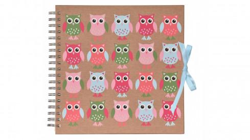 Scrapbook Fotoalbum na spirále pro tvořivou úpravu OWLs