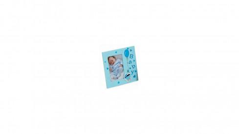 Dětský dřevěný fotorámeček 10x15 modrý