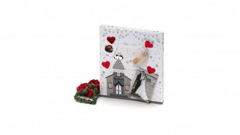 Svatební fotorámeček / fototabule LOVE STORY 30x36cm
