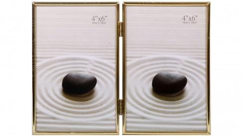 Zlatý fotorámeček 2/10x15 DUO I