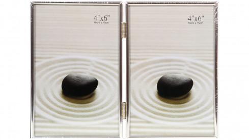 Stříbrný fotorámeček 2/13x18 DUO I